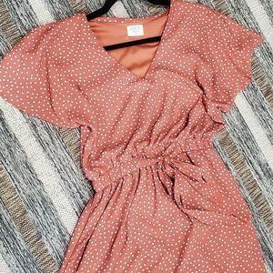 White polka dot spring dress